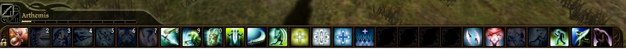 Dragon Age: Origins Shortcut Bar