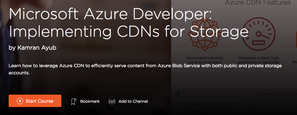 Azure CDN course link